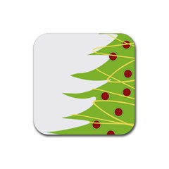Christmas Tree Christmas Rubber Coaster (Square)