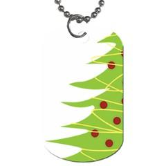 Christmas Tree Christmas Dog Tag (One Side)