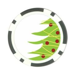 Christmas Tree Christmas Poker Chip Card Guard