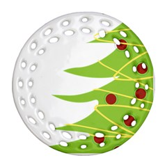 Christmas Tree Christmas Ornament (Round Filigree)