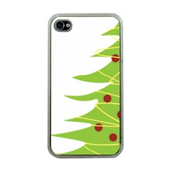 Christmas Tree Christmas Apple iPhone 4 Case (Clear)
