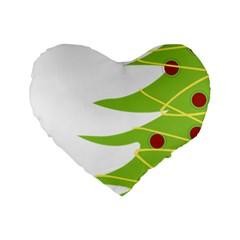 Christmas Tree Christmas Standard 16  Premium Heart Shape Cushions