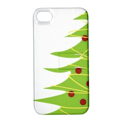 Christmas Tree Christmas Apple iPhone 4/4S Hardshell Case with Stand