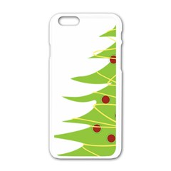 Christmas Tree Christmas Apple iPhone 6/6S White Enamel Case