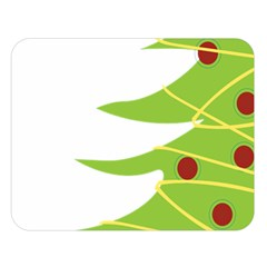 Christmas Tree Christmas Double Sided Flano Blanket (Large)