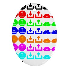 Download Upload Web Icon Internet Oval Ornament (Two Sides)