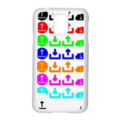 Download Upload Web Icon Internet Samsung Galaxy S5 Case (White)