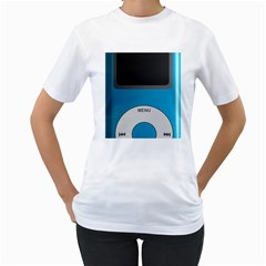 Digital Mp3 Musik Player Women s T-Shirt (White) (Two Sided)