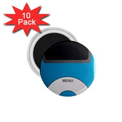 Digital Mp3 Musik Player 1.75  Magnets (10 pack)
