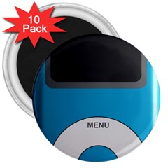 Digital Mp3 Musik Player 3  Magnets (10 pack)