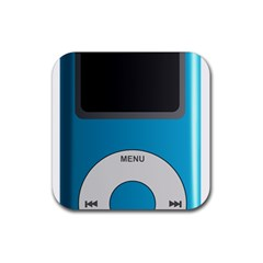 Digital Mp3 Musik Player Rubber Square Coaster (4 pack)