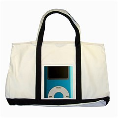 Digital Mp3 Musik Player Two Tone Tote Bag