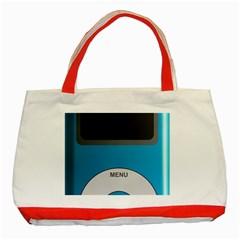Digital Mp3 Musik Player Classic Tote Bag (Red)