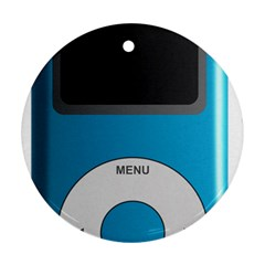 Digital Mp3 Musik Player Round Ornament (Two Sides)