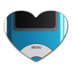 Digital Mp3 Musik Player Heart Mousepads