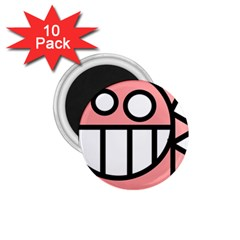 Dragon Head Pink Childish Cartoon 1.75  Magnets (10 pack)