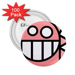 Dragon Head Pink Childish Cartoon 2.25  Buttons (100 pack)
