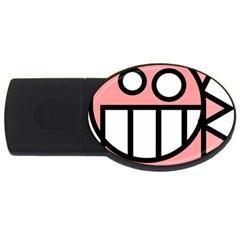 Dragon Head Pink Childish Cartoon USB Flash Drive Oval (1 GB)