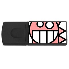 Dragon Head Pink Childish Cartoon USB Flash Drive Rectangular (4 GB)