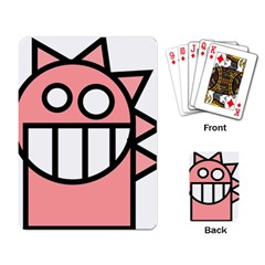 Dragon Head Pink Childish Cartoon Playing Card