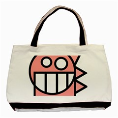 Dragon Head Pink Childish Cartoon Basic Tote Bag