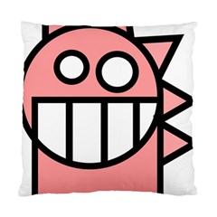 Dragon Head Pink Childish Cartoon Standard Cushion Case (Two Sides)