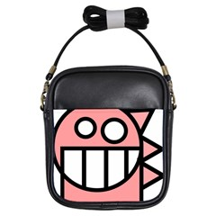 Dragon Head Pink Childish Cartoon Girls Sling Bags