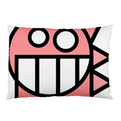 Dragon Head Pink Childish Cartoon Pillow Case (Two Sides)