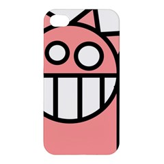 Dragon Head Pink Childish Cartoon Apple iPhone 4/4S Hardshell Case