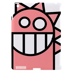 Dragon Head Pink Childish Cartoon Apple iPad 3/4 Hardshell Case (Compatible with Smart Cover)