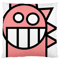 Dragon Head Pink Childish Cartoon Large Flano Cushion Case (Two Sides)