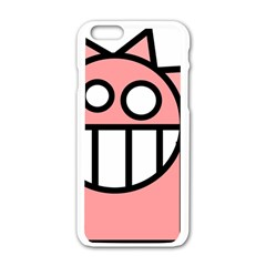 Dragon Head Pink Childish Cartoon Apple iPhone 6/6S White Enamel Case