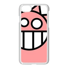 Dragon Head Pink Childish Cartoon Apple Iphone 7 Seamless Case (white)