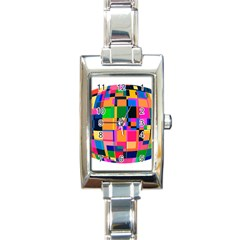 Color Focusing Screen Vault Arched Rectangle Italian Charm Watch