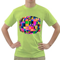 Color Focusing Screen Vault Arched Green T-Shirt
