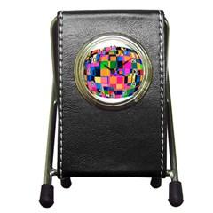 Color Focusing Screen Vault Arched Pen Holder Desk Clocks