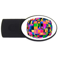 Color Focusing Screen Vault Arched USB Flash Drive Oval (4 GB)