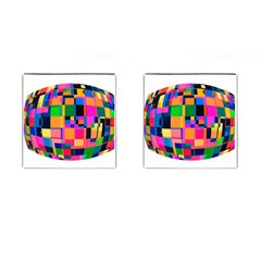 Color Focusing Screen Vault Arched Cufflinks (Square)