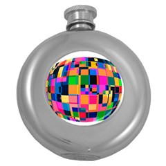 Color Focusing Screen Vault Arched Round Hip Flask (5 oz)