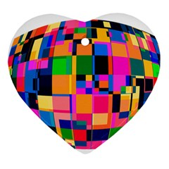 Color Focusing Screen Vault Arched Heart Ornament (Two Sides)