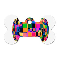 Color Focusing Screen Vault Arched Dog Tag Bone (Two Sides)