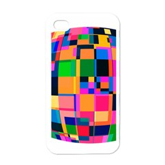 Color Focusing Screen Vault Arched Apple iPhone 4 Case (White)