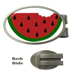 Food Slice Fruit Bitten Watermelon Money Clips (Oval)