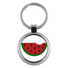 Food Slice Fruit Bitten Watermelon Key Chains (Round)