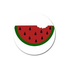 Food Slice Fruit Bitten Watermelon Magnet 3  (Round)