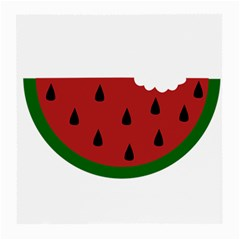 Food Slice Fruit Bitten Watermelon Medium Glasses Cloth