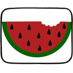 Food Slice Fruit Bitten Watermelon Double Sided Fleece Blanket (Mini)