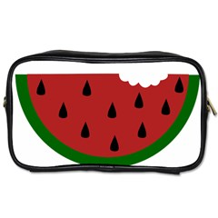 Food Slice Fruit Bitten Watermelon Toiletries Bags