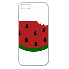 Food Slice Fruit Bitten Watermelon Apple Seamless iPhone 5 Case (Clear)