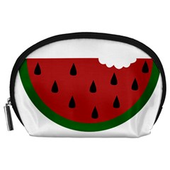 Food Slice Fruit Bitten Watermelon Accessory Pouches (Large)